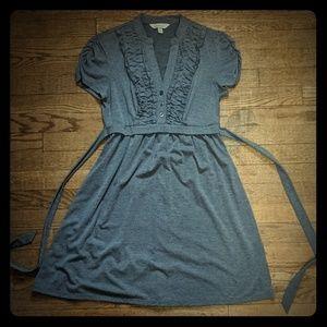 Speechless gray short-sleeve dress